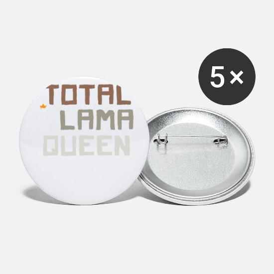 Totally Buttons - Total Llama Queen - Small Buttons white