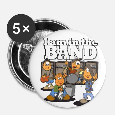 Band Je speelt in een BAND! ik ben in de band - Buttons klein 25 mm (5-pack)