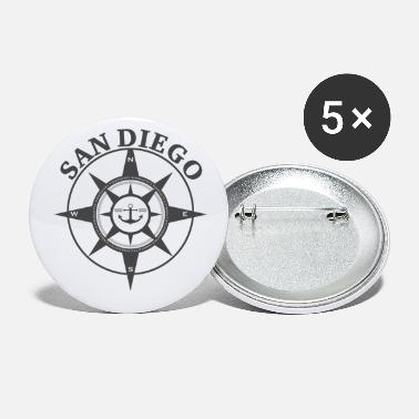 San Diego Compass - Small Buttons