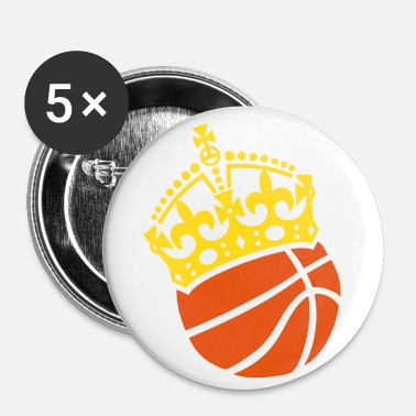 Basketball Krone Crown Couronne - Buttons klein 25 mm