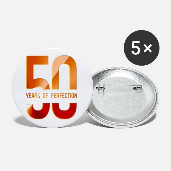 Birthday Buttons - 50 Years Of Perfection - 50 years of perfection - Small Buttons white