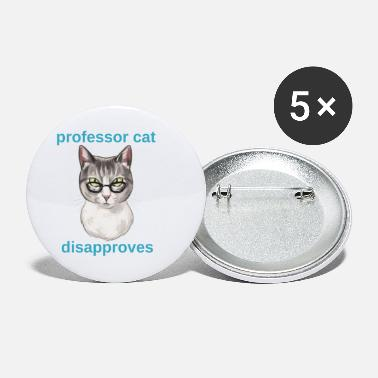 Professor Professor Cat - Small Buttons