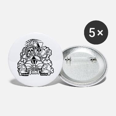 crazy wedding - skeletons (black) - Small Buttons