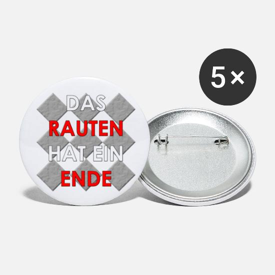 Rhombus Buttons - The lozenge has an END, Merkel farewell - Small Buttons white