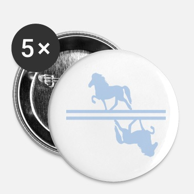 Jour Cheval islandais: Cheval islandais Poney Merch - Badge petit 25 mm
