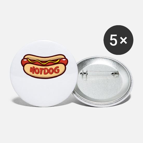 Meal Buttons - Hot dog - Small Buttons white