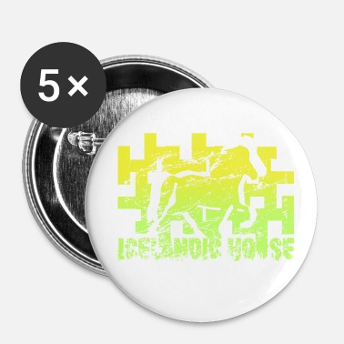 Étalon Cheval islandais: Cheval islandais Poney Merch - Badge petit 25 mm