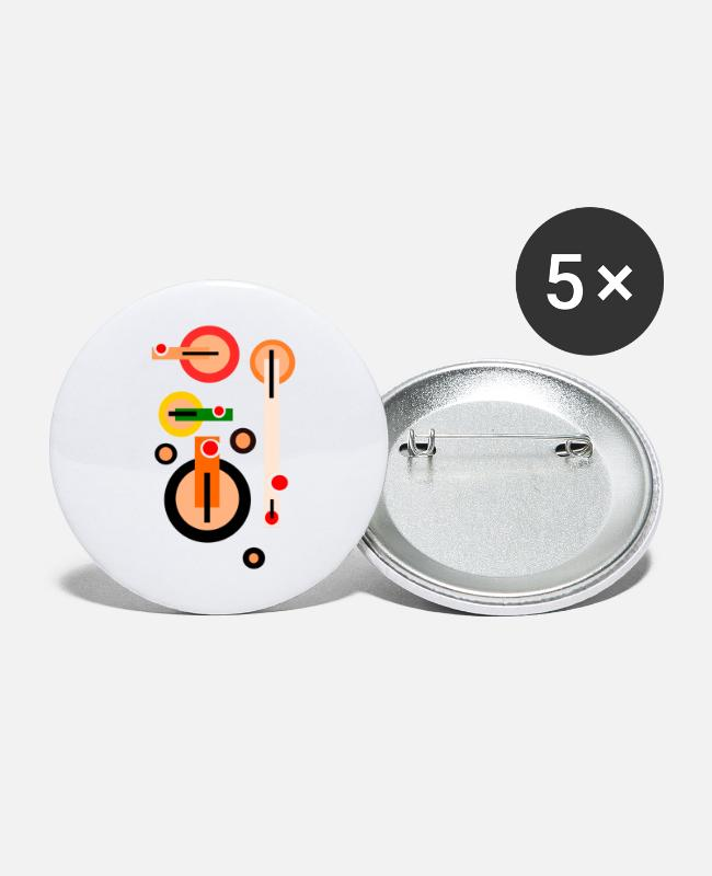 Meetkunde Buttons - Theepotten - Theepotten - Buttons klein wit
