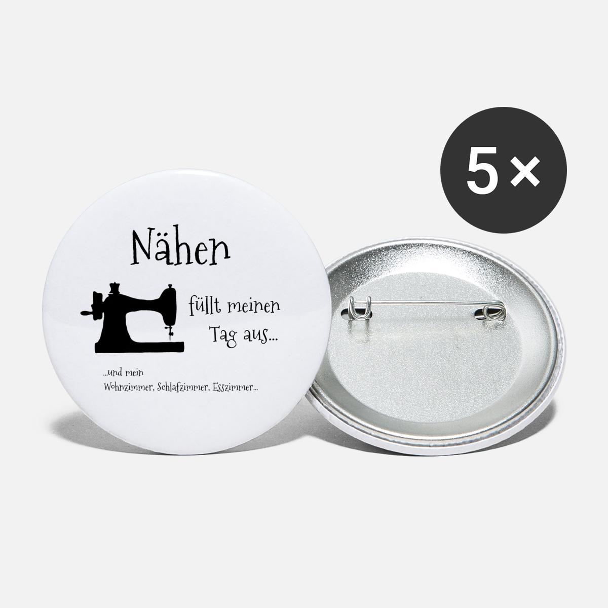 Nahen Hobby Handarbeit Naherin Naht Nadel Geschenk Buttons Klein Spreadshirt