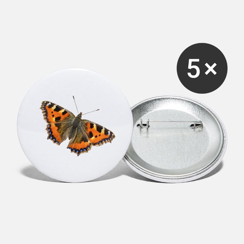Small Buttons - Butterfly Small Tortoiseshell - Small Buttons white