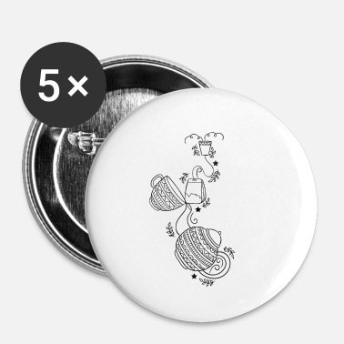 Thee thee - Buttons klein 25 mm (5-pack)