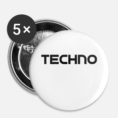 Techno Techno - Buttons klein 25 mm (5er Pack)