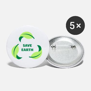 Save SAVE EARTH / SAVE THE PLANET - Small Buttons