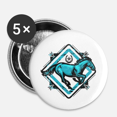 Fer À Cheval Cheval et son fer à cheval - Badge petit 25 mm