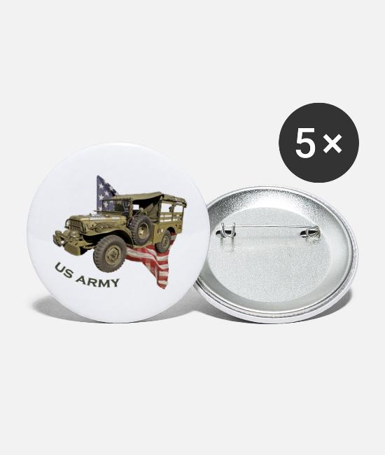 Army Buttons - US Army Car - Buttons klein wit