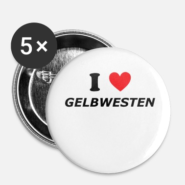 Pegida J'AIME YELLOWWEST - Badge petit 25 mm