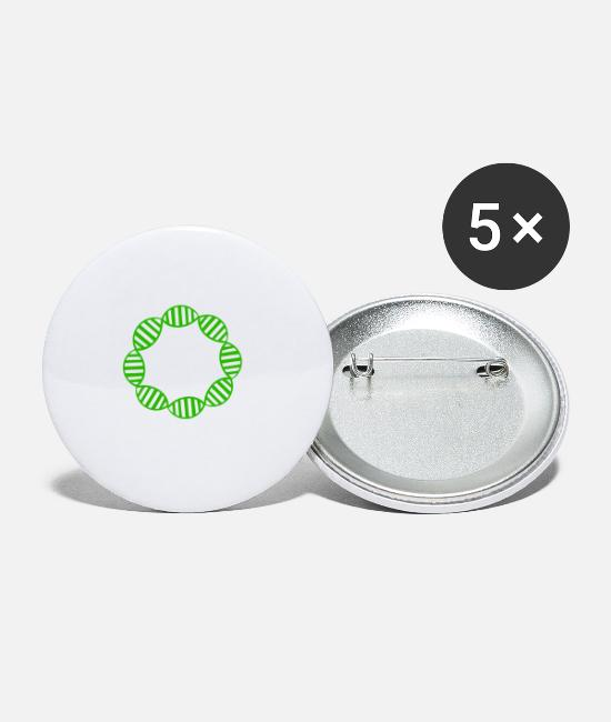 Microscope Buttons - DNA plasmid biology nerd biochemistry CRISPR - Small Buttons white