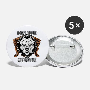 Motorcycle Pitbull Chopper Dog Biker V-Twin - Small Buttons