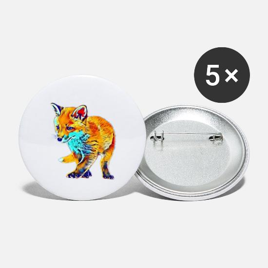 Ræv Buttons & badges - ræv - Små buttons hvid