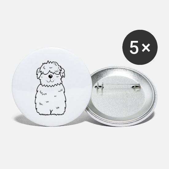 Dog Owner Buttons - Dog drawing - Small Buttons white