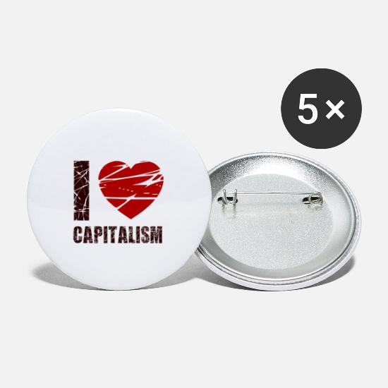 Capital Buttons - capitalism - Small Buttons white