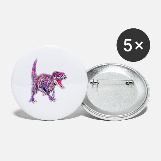 Lézard Badges - dinosaure - Petits badges blanc