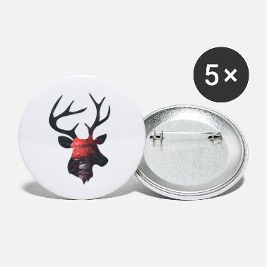 Funges Deer and Red Mushroom - Small Buttons