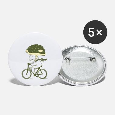Never ride a bike without a helmet - Small Buttons