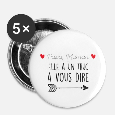 Futur Papa Futur papa - Lot de 5 petits badges (25 mm)