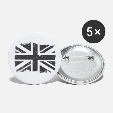 England Union Jack Black White Vintage - Small Buttons