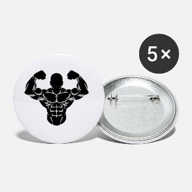 Body Muscle Man Bodybuilder Gym Workout Gym - Small Buttons