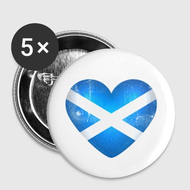 Scottish Scotland in the heart - I Love Scotland - Buttons small 25 mm