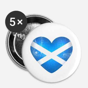 Scotland Scotland in the heart - I Love Scotland - Buttons small 25 mm