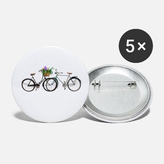 Bicycle Buttons - Bicycles - Small Buttons white