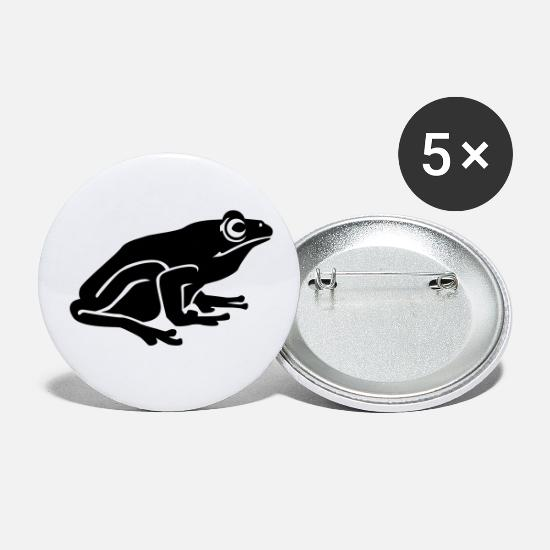 Pond Buttons - frog - Small Buttons white
