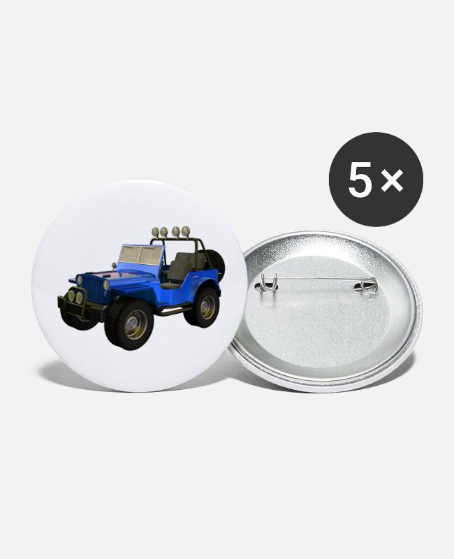 Vehicle Buttons - Jeep - All terrain vehicle - Small Buttons white