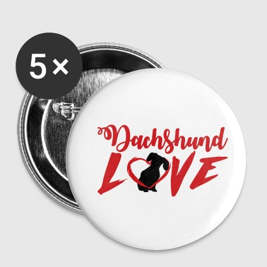 Dachshund Dachshund / Dachshund: Dachshund Love - Buttons small 25 mm