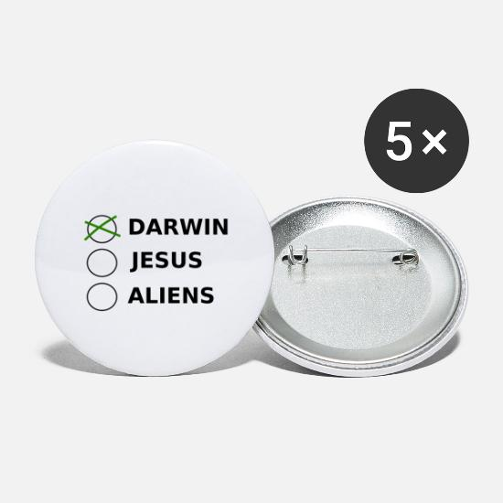 Darwin Buttons - Design Darwin Aliens - Small Buttons white