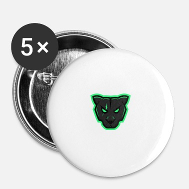 Mascotte Panther Mascotte - Buttons klein 25 mm (5-pack)