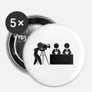 Caméraman News Cameraman Studio - Badge petit 25 mm