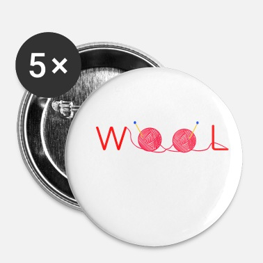 Wol wol - Buttons klein 25 mm (5-pack)