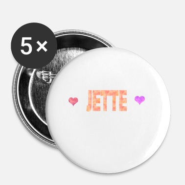 Jet Jette - Buttons klein 25 mm (5-pack)