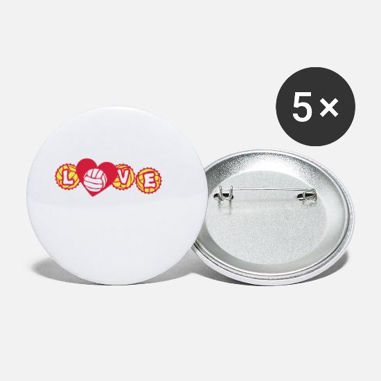 Love Buttons - volley waterpolo love capsule heart hear - Small Buttons white