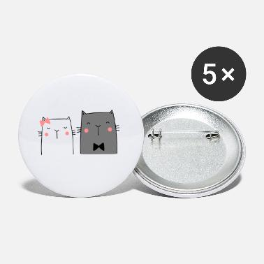 Wedding Couple Cats Couple Couple Couple Wedding Couple Wedding - Small Buttons