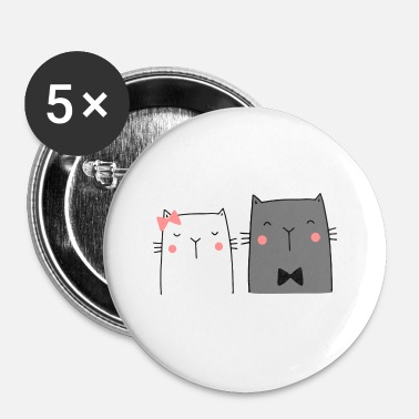 Couples Cats Couple Couple Couple Wedding Couple Wedding - Buttons small 1''/25 mm (5-pack)