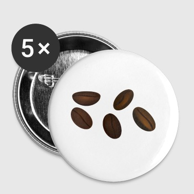 coffee beans - Buttons small 25 mm