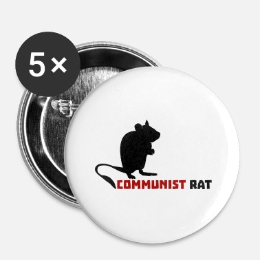 Communist Communist Rat - Buttons small 25 mm