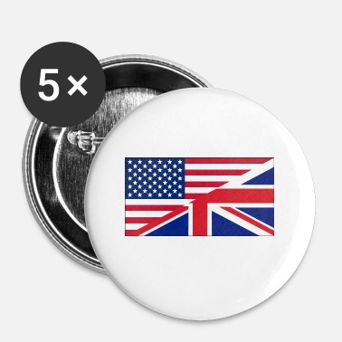 Uk USA UK - Badge petit 25 mm