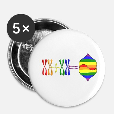 Tlc Lesbisch XX-chromosoom - Buttons klein 25 mm (5-pack)