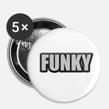 Funky funky - Buttons/Badges lille, 25 mm